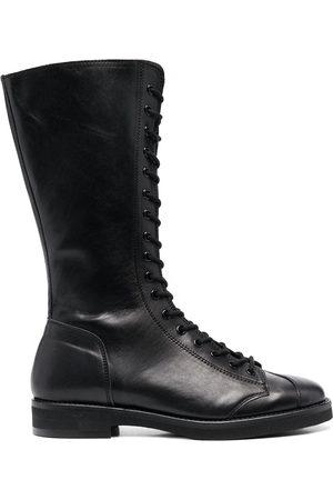 YOHJI YAMAMOTO Lace-up leather military boots