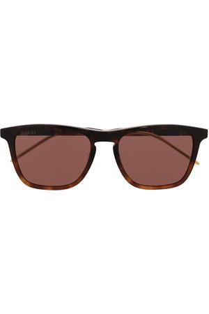 Gucci Eyewear Eckige Sonnenbrille in Schildpattoptik