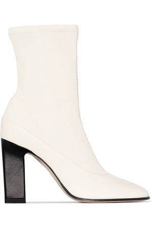 Wandler Neutral Lesly 100 leather ankle boots - Nude