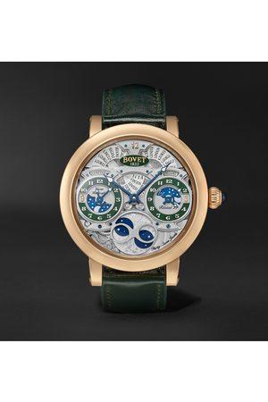 Bovet Herren Uhren - Récital 27 Limited Edition Hand-Wound 46mm 18-Karat Red Gold and Leather Watch, Ref. No. R270007