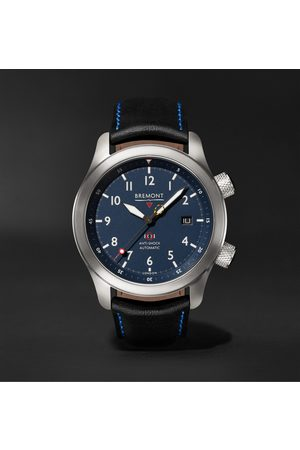 Bremont MBII Automatic 43mm Stainless Steel and Leather Watch, Ref. No. MB11