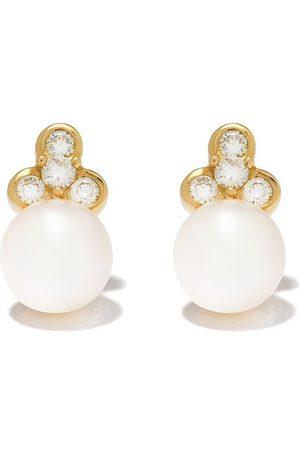 Yoko London Damen Ohrringe - 18kt Gelbgoldohrstecker mit Diamanten