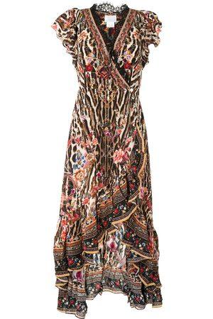 Camilla Wickelkleid mit Rüschen - Mehrfarbig