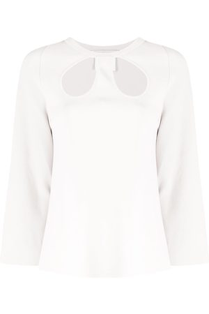 Stella McCartney Cropped-Top mit Cut-Outs - Nude