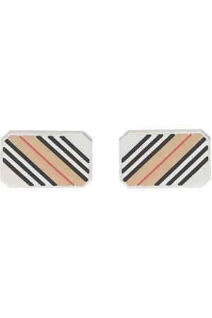 Burberry Icon stripe cufflinks - Nude