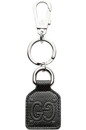 Gucci Herren Schlüsselanhänger - Schlüsselanhänger aus geprägtem GG Leder