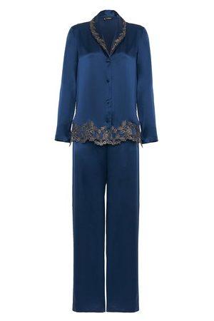 La Perla Pyjama aus Seide mit Frastaglio