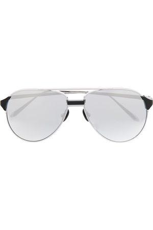 Linda Farrow Getönte Pilotenbrille