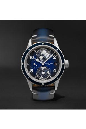 Mont Blanc Herren Uhren - 1858 Geosphere Automatic 42mm Titanium, Ceramic and Leather Watch, Ref. No. 125565