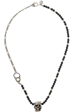 Alexander McQueen Snake skull beaded necklace