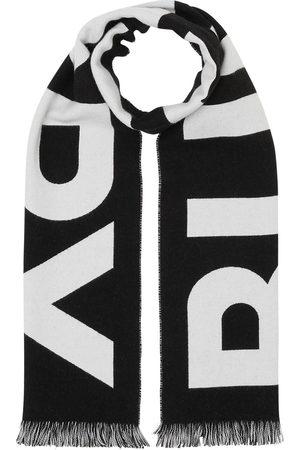 Burberry Jacquard-Schal mit Logo - BLACK