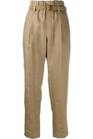 Brunello Cucinelli Cropped-Hose mit Gürtel