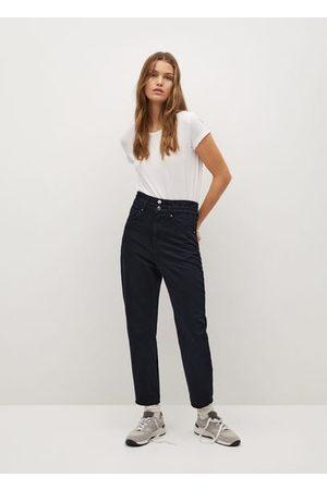 MANGO Damen Baggy & Boyfriend - Baggy jeans mit stretchbund