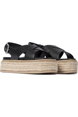 Prada Espadrille-Sandalen mit Leder