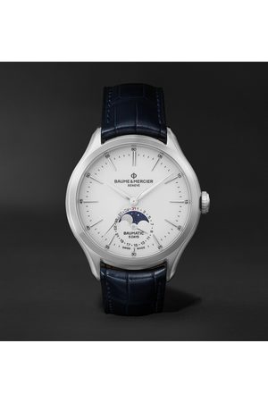 Baume & Mercier Clifton Baumatic 10549 Automatic 42mm Stainless Steel and Alligator Watch, Ref. No. M0A10549