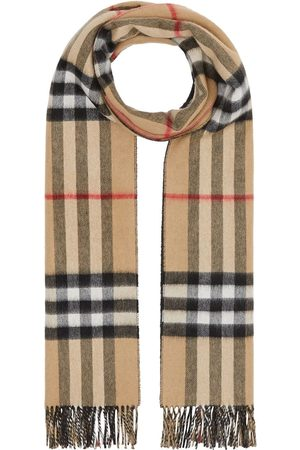Burberry Reversible check cashmere scarf - Nude