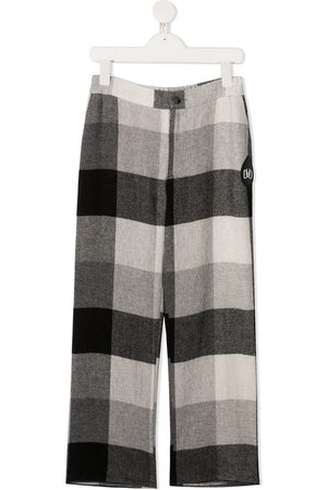DUOltd Checked straight-leg trousers