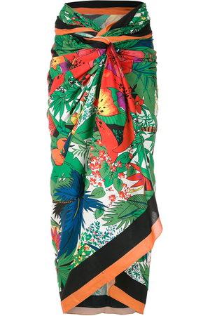 AMIR SLAMA Tropical-print sarong