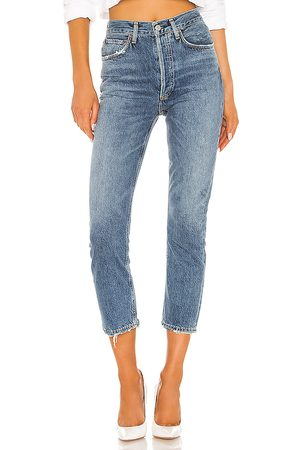 AGOLDE Riley hohe Straight Crop Jeans. Size 26, 27, 28, 29, 30, 31, 32.