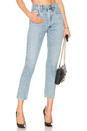 AGOLDE Riley hohe Straight Crop Jeans. Size 25, 26, 27, 28, 29, 30, 32.