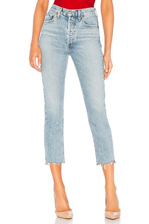 AGOLDE Riley hohe Straight Crop Jeans. Size 25, 26, 27, 28, 29, 30, 31, 32.