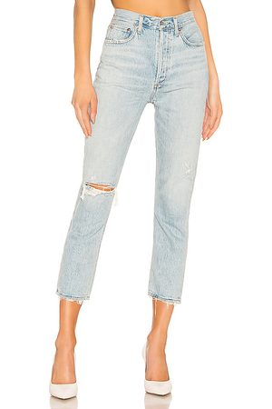 AGOLDE Riley hohe Straight Crop Jeans. Size 24, 25, 26, 27, 28, 29, 30, 31, 32.