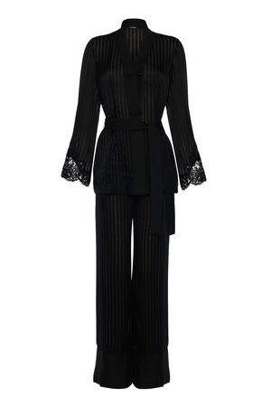 La Perla Damen Schlafanzüge - Pyjama aus Seide und Leavers-Spitze