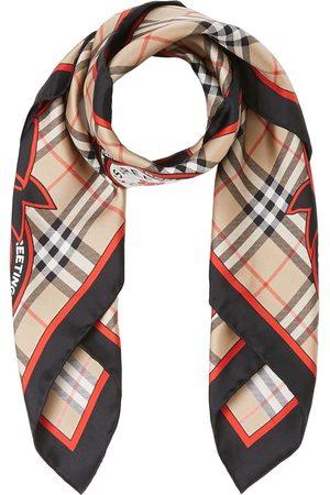 Burberry Archive Campaign-print silk scarf - Nude