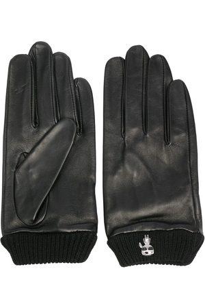 Karl Lagerfeld Ikonik-brooch leather gloves