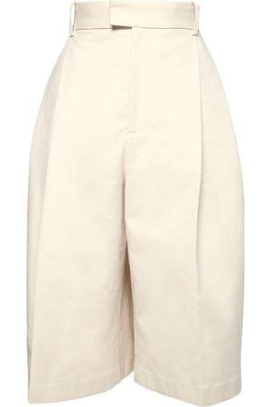 Bottega Veneta Lange Shorts Aus Baumwolle