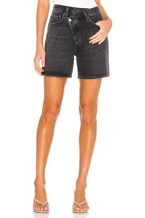 AGOLDE Damen Shorts - Criss Cross Short. Size 24, 25, 26, 27, 28, 29, 30, 31, 32.
