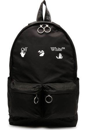 OFF-WHITE OW LOGO BACKPACK BLACK WHITE