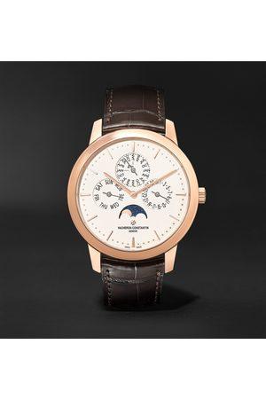 Vacheron Constantin Traditionnelle Perpetual Calendar Automatic 41mm 18-Karat Pink and Alligator Watch, Ref. No. 43175/000R-9687
