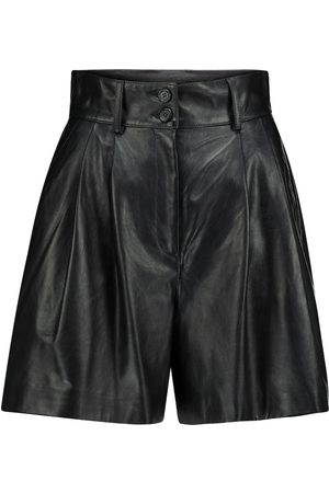 Dolce & Gabbana High-Rise Shorts aus Leder