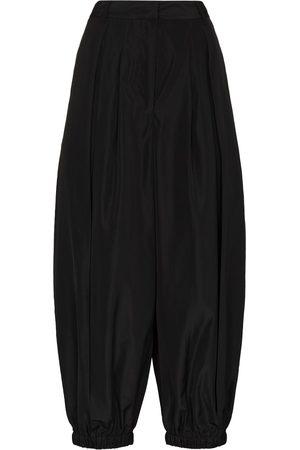tibi Cropped-Hose mit Falten