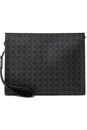 Dunhill Leather-Trimmed Logo-Print Coated-Canvas Pouch