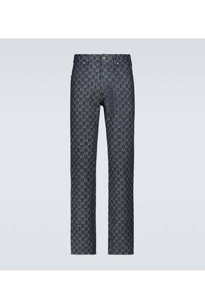 Gucci Straight Jeans GG Jacquard