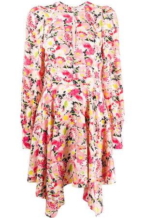 Stella McCartney Asymmetrisches Kleid mit Blumen-Print