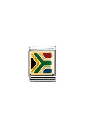 Nomination Armbänder - BIG - FLAGGEN AFRIKA Edelstahl, Email und 18K-Gold (SUDAFRIKA)