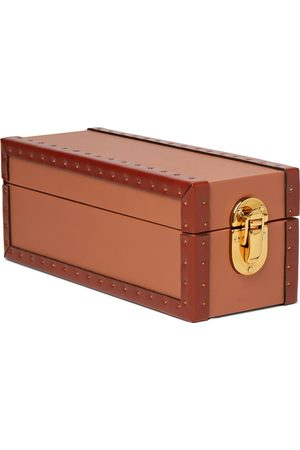 Rapport London Kensington Studded Leather Two-Watch Box