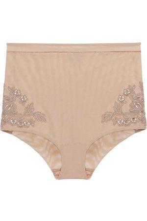 La Perla Damen Slips - Slip mit hohem Bund aus elastischem Tüll