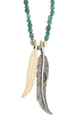 M. COHEN Perlenkette mit Federanhängern