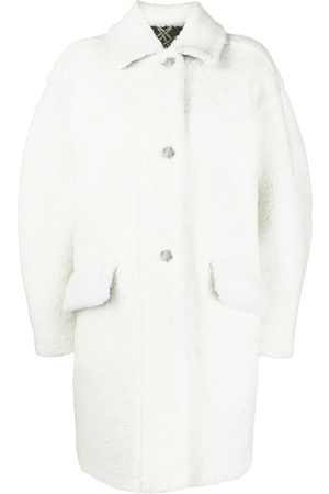 Mr & Mrs Italy Shearling-Mantel im Oversized-Look