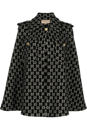 Gucci GG jacquard wool cape