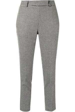 Twin-Set Tapered-Hose mit Hahnentrittmuster - Mehrfarbig
