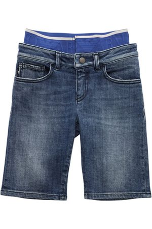 Emporio Armani Shorts Aus Stretch-baumwolldenim