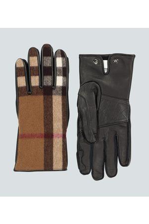 Burberry Handschuhe aus Leder und Wolle