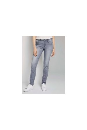 TOM TAILOR Alexa Slim Jeans, Damen, grey denim, Größe: 32/32