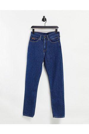 Calvin Klein Schmale Straight Jeans mit dunkelblauer Waschung