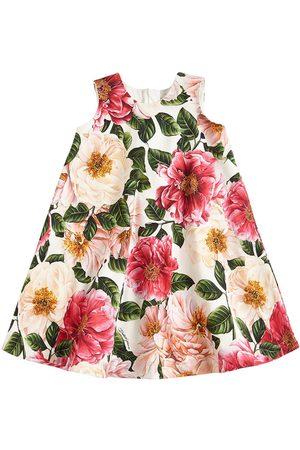 Dolce & Gabbana Mädchen Bedruckte Kleider - Kleid Aus Baumwollinterlock Mit Blumendruck